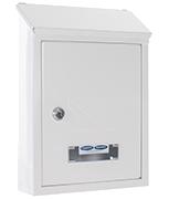 Udine White - Steel Post Box