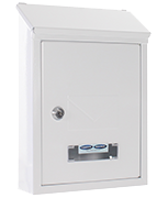 Udine White - Steel Post Box