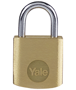 Yale Y110B Essential 20mm Brass Padlock