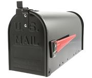 US Mailbox Black - Front Loading 17Ltr Medium Post Box