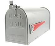 US Mailbox Silver - Front Loading 17Ltr Medium Post Box