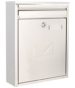Como - Dual Access Stainless Steel Post Box