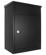 Black Parcel Keeper 500 - Top Loading 50Ltr Large Post Box