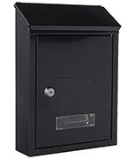 Udine Anthracite - Steel Post Box