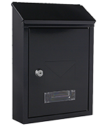 Udine Anthracite - Steel Post Box
