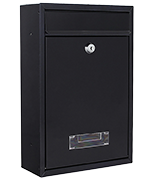 Tarvis Anthracite - Steel Post Box