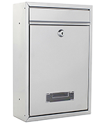 Tarvis Silver - Steel Post Box
