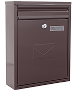 Como Brown - Dual Access Steel Post Box