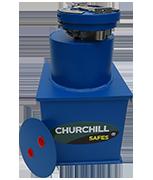 Churchill Round Door Silver Size 1 - 12Ltr Under Floor Safe