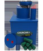 Thumbnail of Churchill Round Door Silver Size 2 - 28Ltr Under Floor Deposit Safe