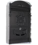 Ashford Black - Steel Post Box
