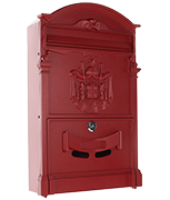 Ashford Red - Steel Post Box