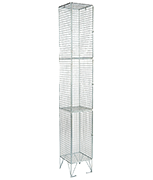 RMP 3 Door - Deep Wire Mesh Locker