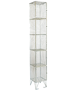 RMP 5 Door - Deep Wire Mesh Locker