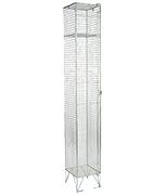 RMP 1 Door - Extra Deep Wire Mesh Locker