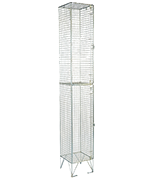 RMP 2 Door - Extra Deep Wire Mesh Locker