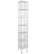 RMP 6 Door - Extra Deep Wire Mesh Locker