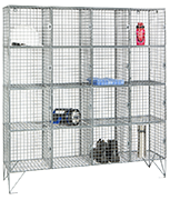 RMP 16 Door - Extra Deep Wire Mesh Locker