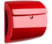 Piano High Gloss Red - Plastic Post Box