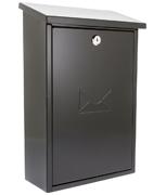 Rhondda Black - Steel Post Box