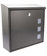 Aire Black - Steel Post Box