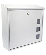 Aire Silver - Steel Post Box