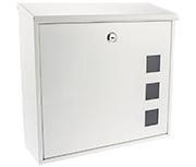 Aire White - Steel Post Box