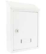 Avon White - Rear Access Steel Post Box