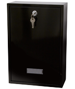Forth Black - Rear Access Steel Post Box