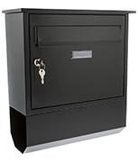 Thumbnail of Itchen Black - Steel Post Box