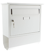 Itchen White - Steel Post Box