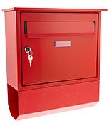 Itchen Red - Steel Post Box