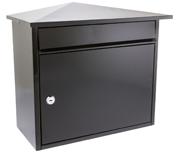 Mersey Black - Steel Post Box