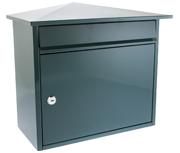 Mersey Green - Steel Post Box