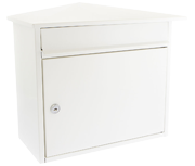 Mersey White - Steel Post Box
