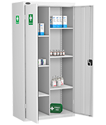 Probe 8 Compartment Medical Cabinet