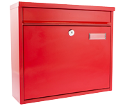 Thumbnail of Ouse Red - Steel Post Box