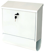 Tees White - Steel Post Box