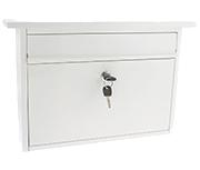 Teme White - Steel Post Box