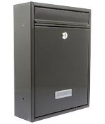 Trent Black - Steel Post Box