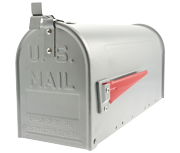 US Mailbox - Silver Aluminium