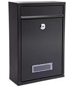 Popular Black - Steel Post Box