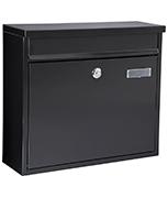 Grande Black - Steel Post Box