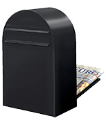 Bobi Classic B Black - Rear Access 32Ltr Large Post Box
