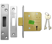 Thumbnail of Asec BS 5 Lever Deadlock (64mm, Stainless Steel)