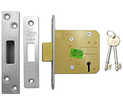 Asec BS 5 Lever Deadlock (76mm, Stainless Steel)