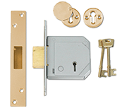 Union 3G114E - BS 5 Lever Deadlock (67mm, Polished Brass)