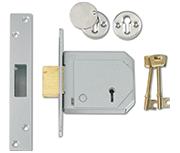 Thumbnail of Union 3G114E - BS 5 Lever Deadlock (80mm, Satin Chrome)