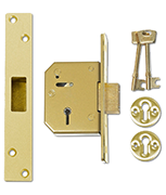 Union 3G115 - 5 Lever Deadlock (67mm, Polished Brass)