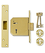 Thumbnail of Union 3G115 - 5 Lever Deadlock (80mm, Polished Brass)